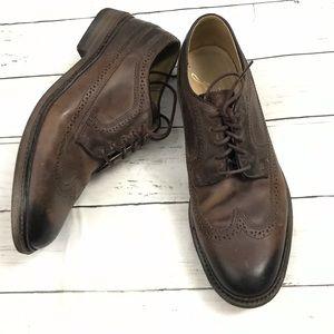 Frye Oxford wingtip lace up shoe Sz 9.5 D